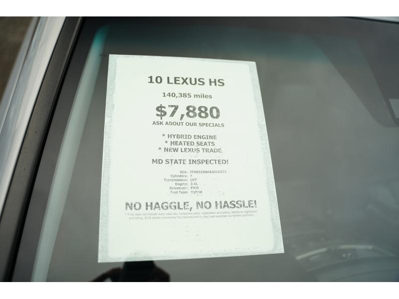 Lexus HS 250h 2010 price $7,880