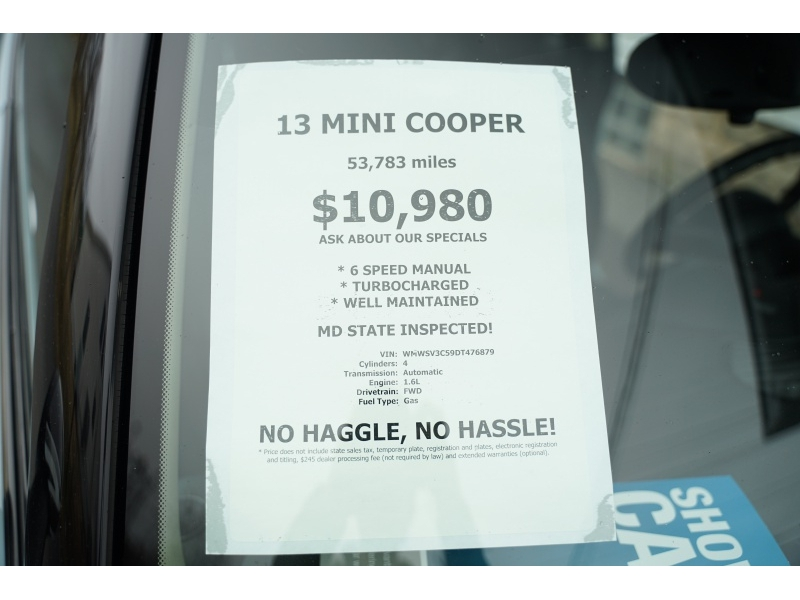 Mini Cooper Hardtop 2013 price $10,980