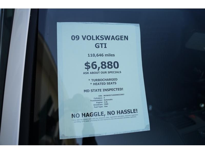 Volkswagen GTI 2009 price $6,490