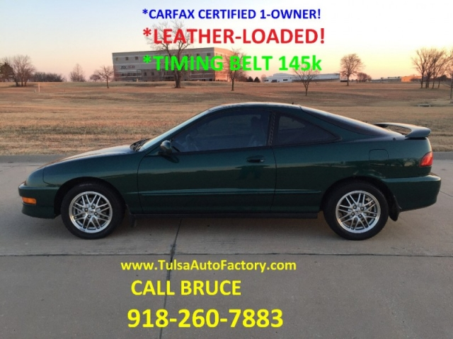 ACURA INTEGRA GS COUPE GREEN AUTO CARFAX CERTIFIED OWNER - Acura integra gs 2000