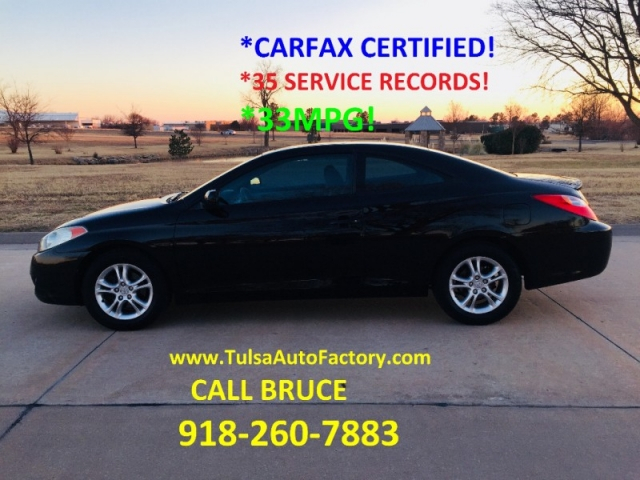 2005 toyota solora se black auto carfax certified well maintained