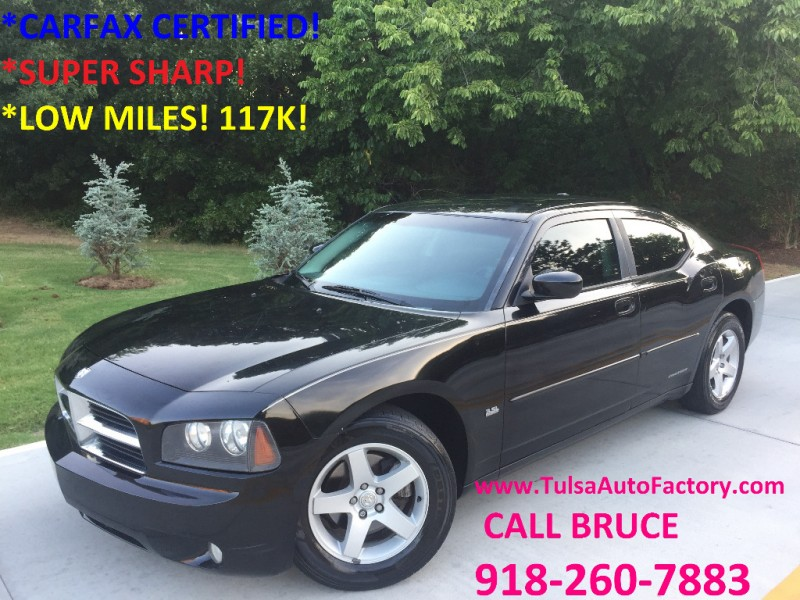 2010 Dodge Charger Sxt Rwd Black Auto Carfax Certified Low Miles