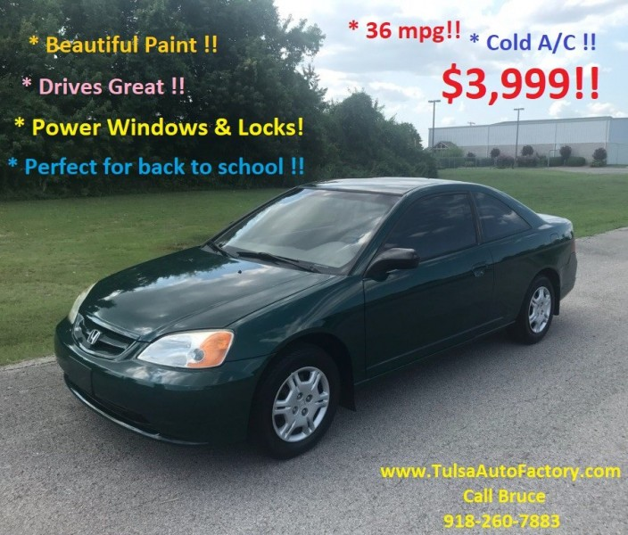 2002 Honda Civic Mpg >> 2002 Honda Civic 2dr Cpe Lx Auto