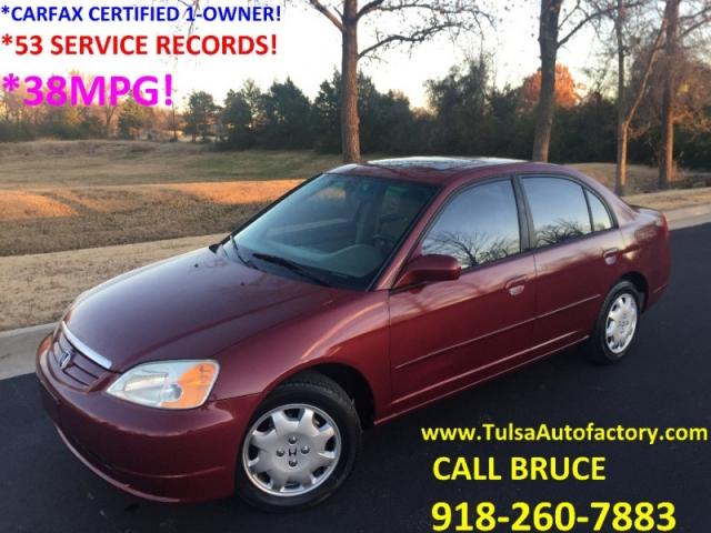 2002 honda civic ex sedan red carfax certified 1 owner super well