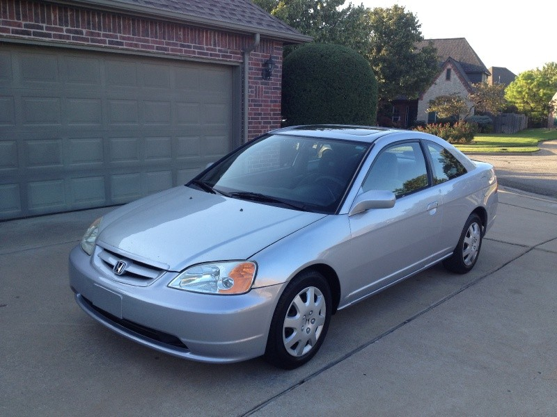 Honda Dealership Tulsa >> 2002 HONDA CIVIC EX COUPE SILVER AUTO *CARFAX CERTIFIED ...