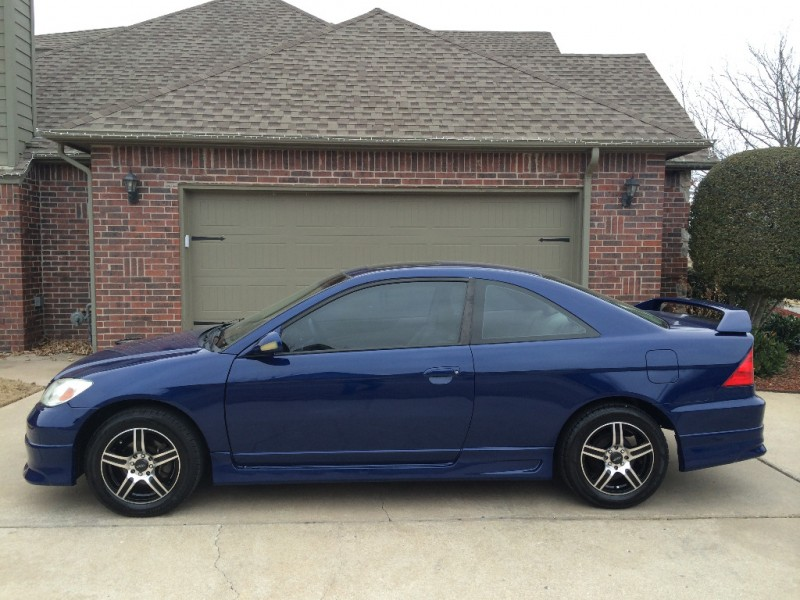 Honda Dealership Tulsa >> 2004 HONDA CIVIC EX COUPE BLUE AUTO *CARFAX CERTIFIED ...
