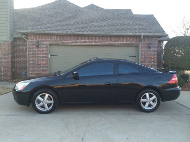 honda accord  coupe black carfax certified  owners gas saver mpg leather loaded