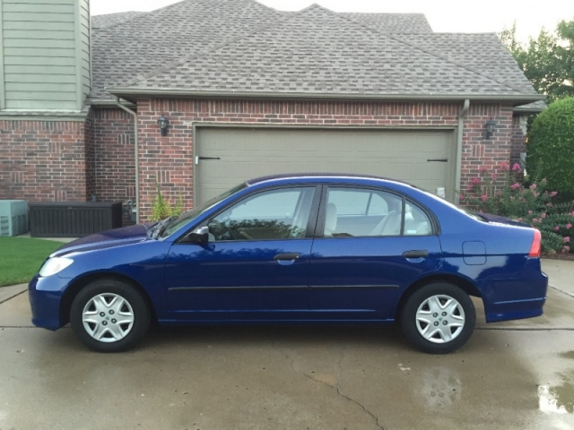 2004 HONDA CIVIC VP SEDAN BLUE *CARFAX CERTIFIED* *WELL MAINTAINED-15 SERVICE RECORDS* *GAS ...