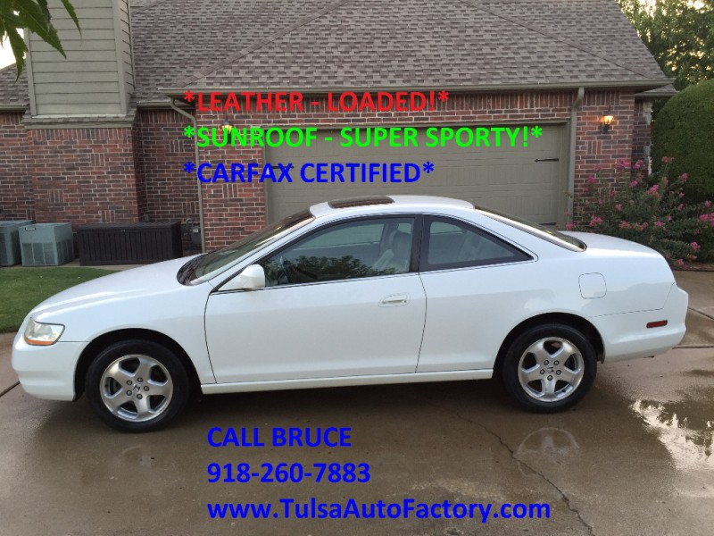 2000 honda accord ex coupe v6 white carfax certified 2 owners super sharp super sporty. Black Bedroom Furniture Sets. Home Design Ideas