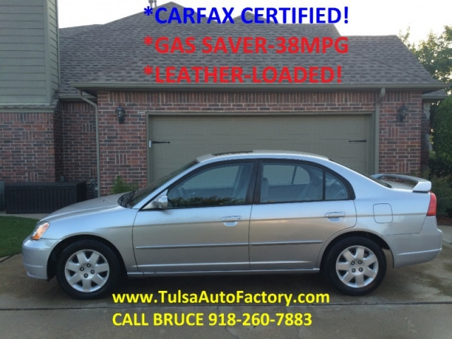2002 honda civic ex sedan silver 5 speed manual carfax certified rh tulsaautofactory com 2001 Honda Civic Ex Review 2001 Honda Civic 4 Door