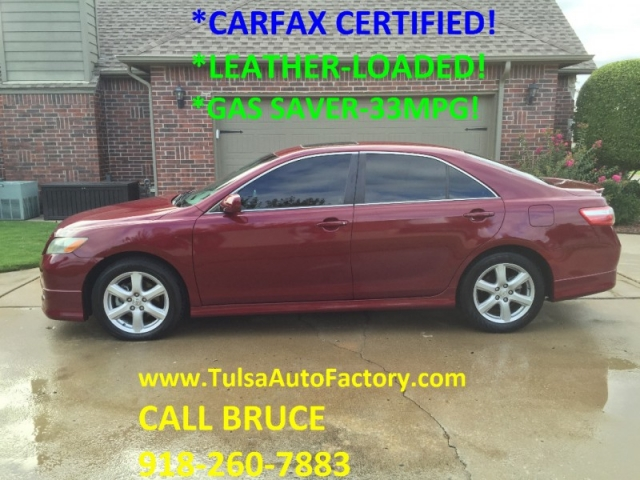 2007 toyota camry se sedan red carfax certified 2 owners leather loaded gas saver 34mpg. Black Bedroom Furniture Sets. Home Design Ideas