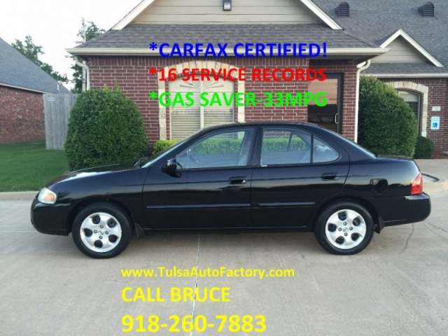 Nissan Dealership Tulsa >> 2004 NISSAN SENTRA SEDAN BLACK *CARFAX CERTIFIED 2-OWNERS ...