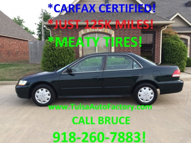 2001 HONDA ACCORD LX SEDAN GREEN MANUAL *CARFAX CERTIFIED 2-OWNERS* *WELL MAINTAINED-23 SERVICE ...