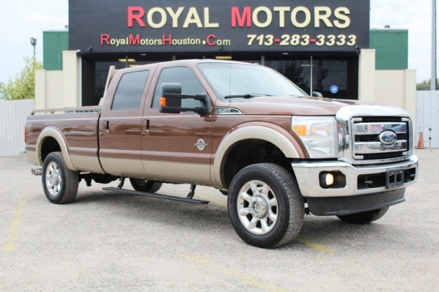 2012 ford super duty f 350 lariat 4x4 6 7l diesel 175k for Royal motors houston tx