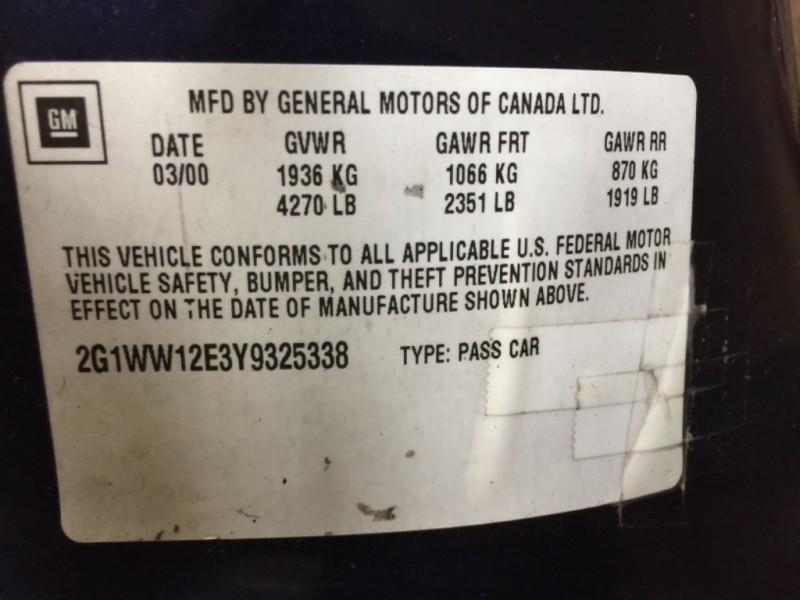Chevrolet Monte Carlo 2000 price $1,995