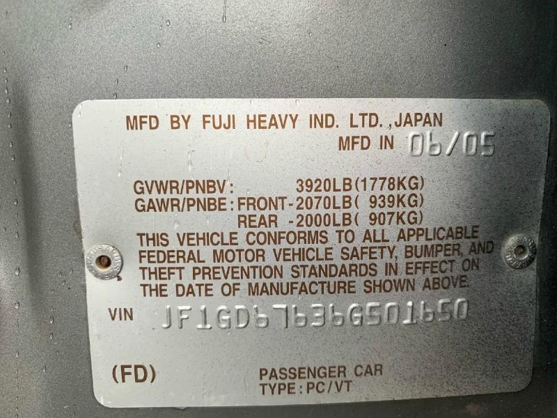 Subaru Impreza Sedan 2006 price $8,950