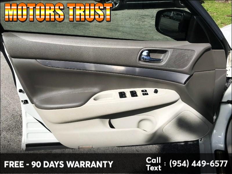 Infiniti G25 Sedan 2011 price $7,300