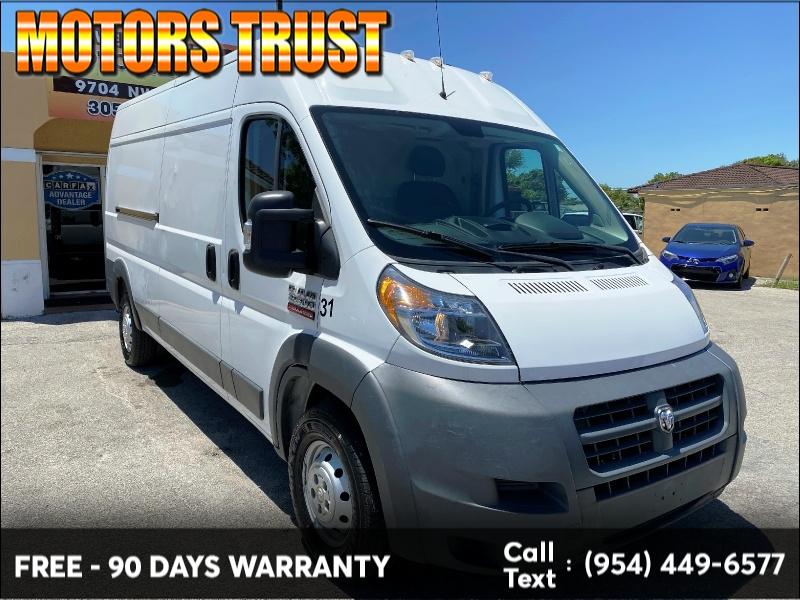 RAM ProMaster Cargo Van 2016 price $16,299