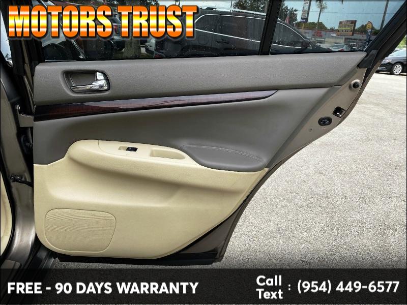 Infiniti G37 Sedan 2012 price $8,199