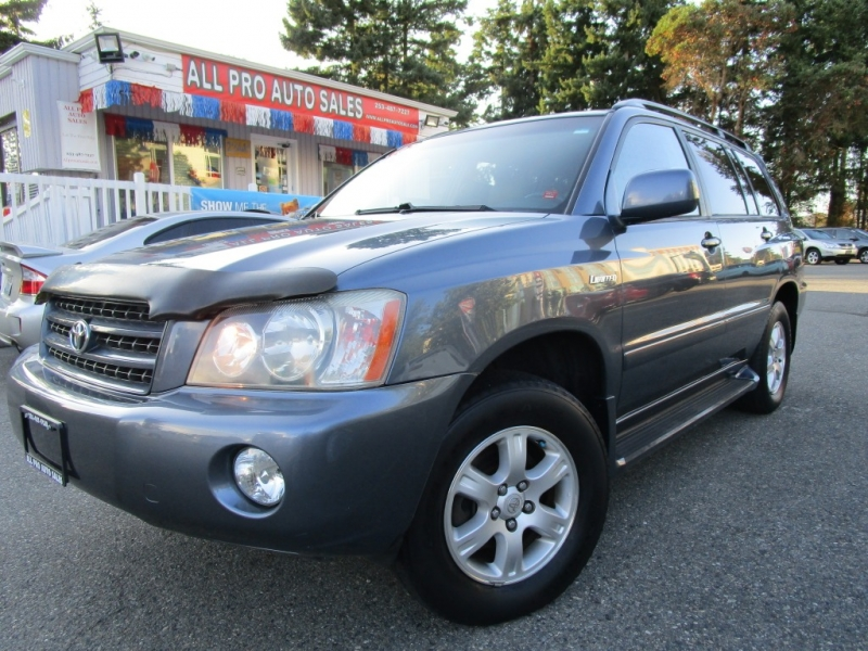 All Pro Automotive >> 2003 Toyota Highlander 4dr V6 4wd Limited