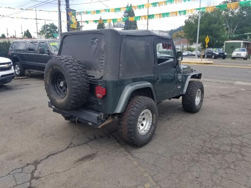 Jeep Wrangler 2002 price $9,995