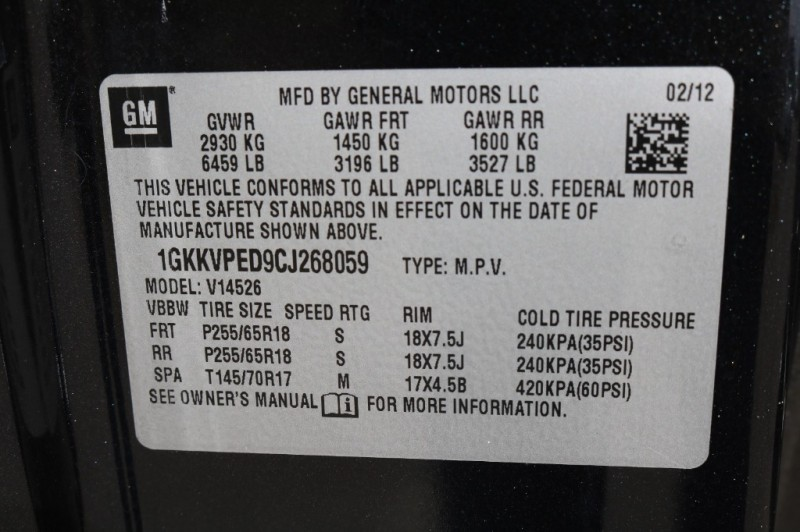 GMC Acadia 2012 price $8,577 Cash