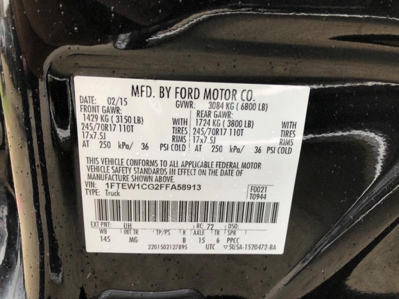 Ford F-150 2015 price $19,577 Cash
