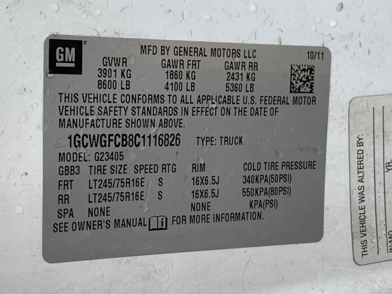 Chevrolet Express Cargo Van 2012 price $7,577