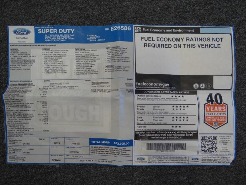 Ford Super Duty F-250 SRW 2017 price $59,900