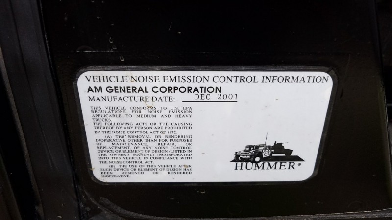 Hummer H1 2002 price $0