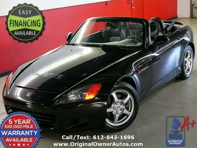 2001 Honda S2000 62k Original Miles 2 Owners Black Clean FAST