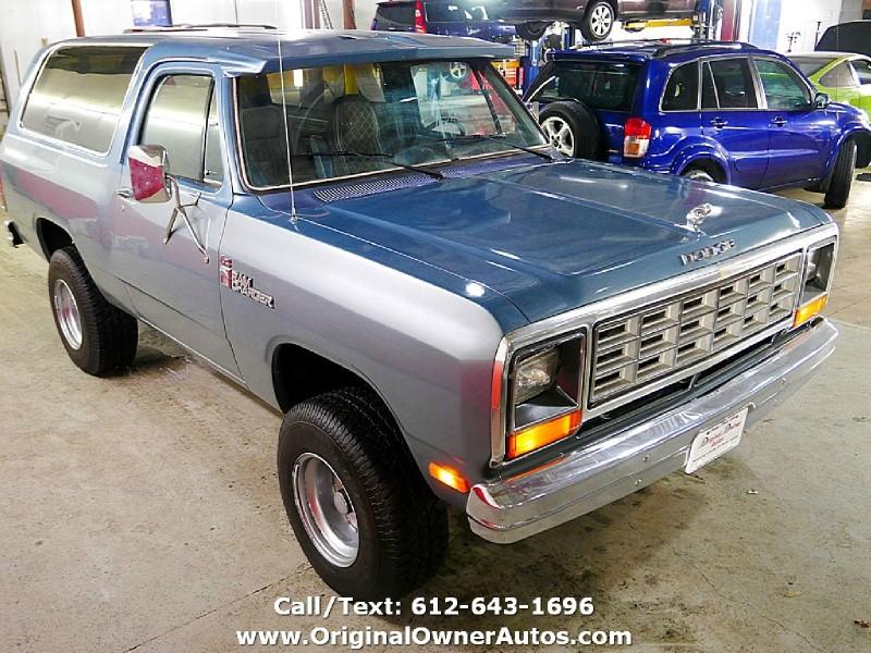 Dodge RAMCHARGER 1985 price $6,495