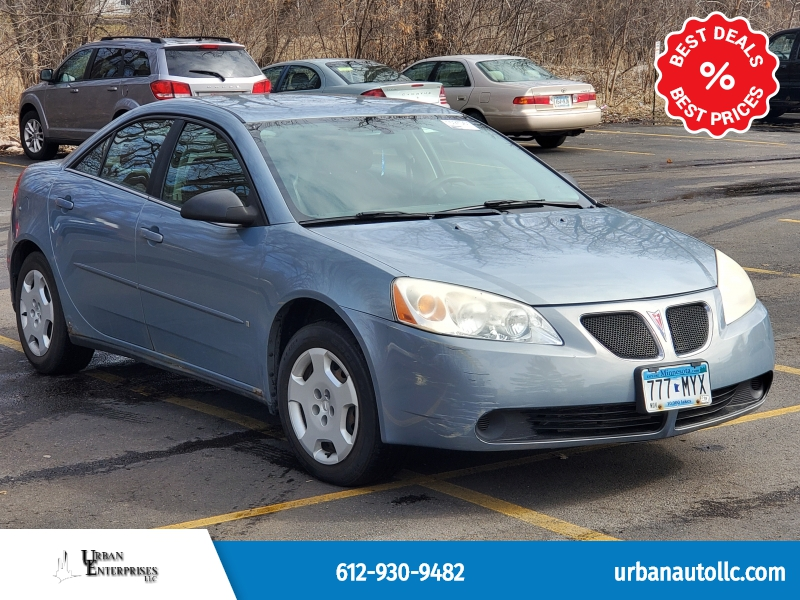 Pontiac G6 2007 price $2,495 Cash