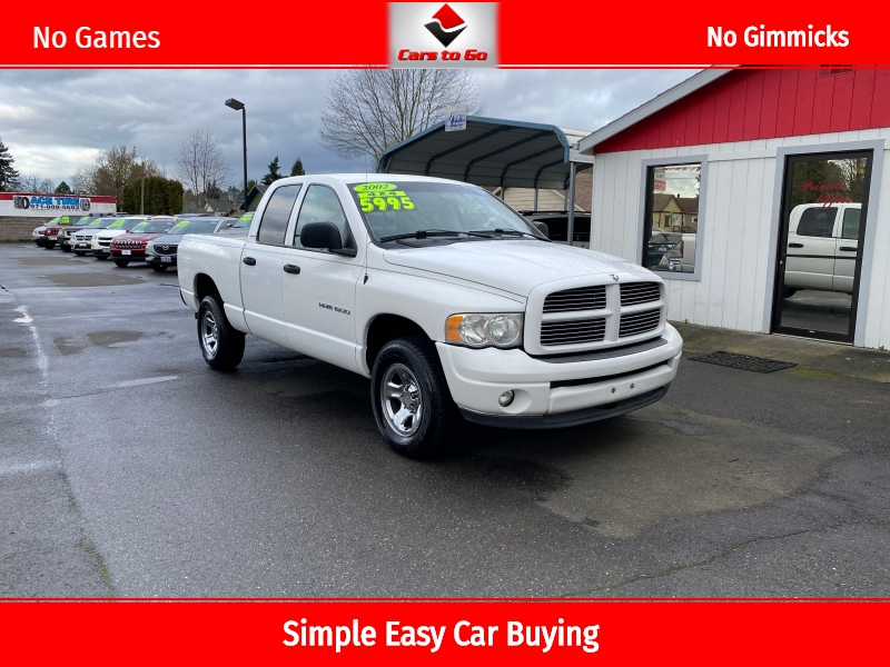 DODGE RAM 1500 QUAD CAB 2002 price $5,995