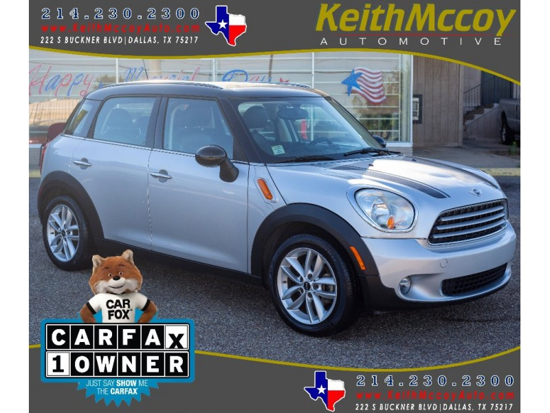 Mini Cooper Dallas >> 2012 Mini Cooper Clubman Fwd 4dr