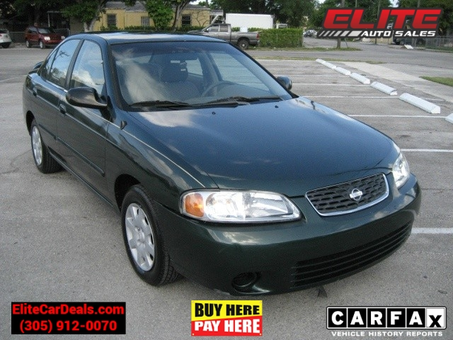 2000 nissan sentra 4dr sdn gxe auto inventory elite auto sales auto dealership in miami. Black Bedroom Furniture Sets. Home Design Ideas