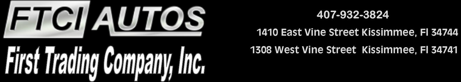 FTCI Autos. (407) 932-3824