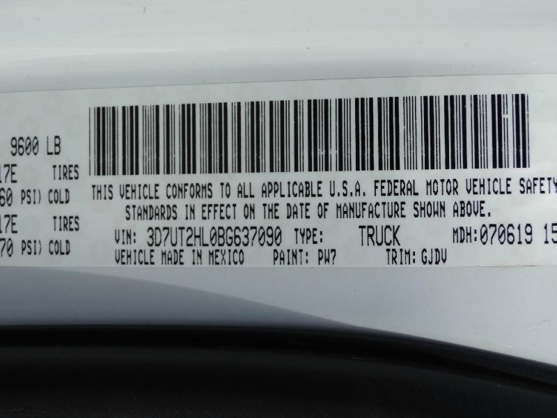 RAM 2500 2011 price $28,995