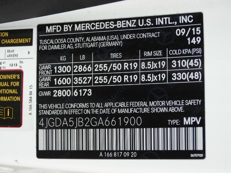 Mercedes-Benz GLE 2016 price $23,995
