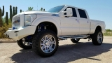 Ford Super Duty 4WD F-250 Lariat Custom Sema Truck Lift 2011