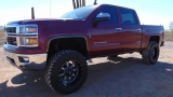 Chevrolet Silverado 1500 4WD Z71 Crew Cab LT Lifted Like New 2014