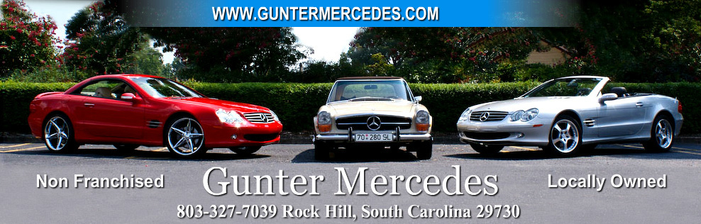 Gunter's Mercedes Sales & Service. (803) 599-2099