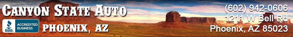 Canyon State Auto. 602 942 0606
