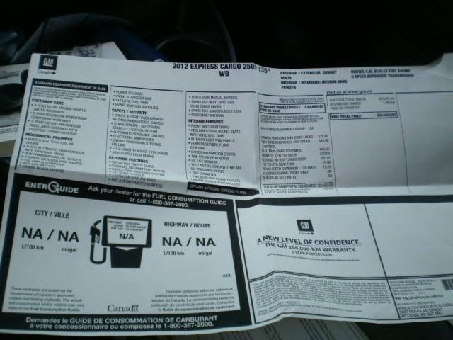 Chevrolet Express Cargo Van 2012 price $18,980