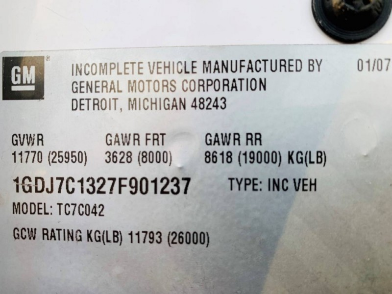 GMC C7500 2007 price $18,900