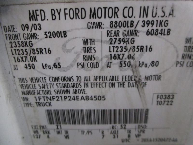 Ford Super Duty F-250 2004 price $12,900