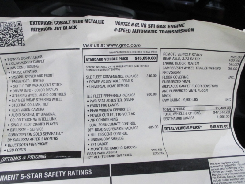 GMC Sierra 2500HD 2015 price $24,900