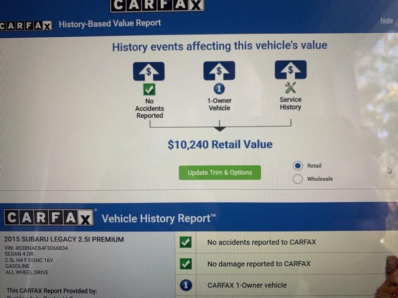 SUBARU LEGACY 2015 price $6,999