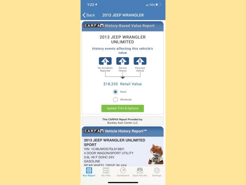 JEEP WRANGLER UNLIMI 2013 price $14,999
