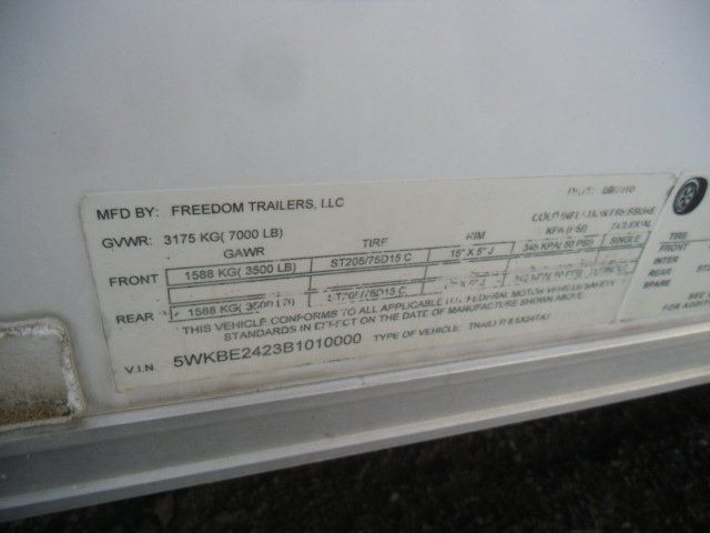 Freedom Enclosed 2011 price $7,900